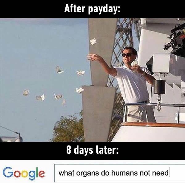 After Payday Funny Pictures Quotes Memes Jokes