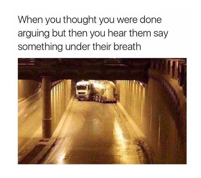 Done Arguing