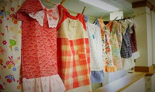 99-Year-Old Lady Sews Dresses for Poor Children