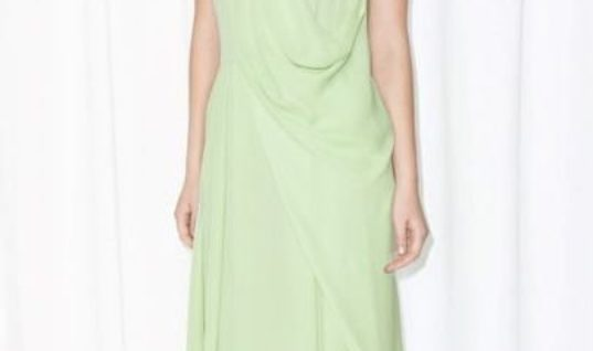 Fall In Love With The Spring With This Elegant Mint Draped Dress