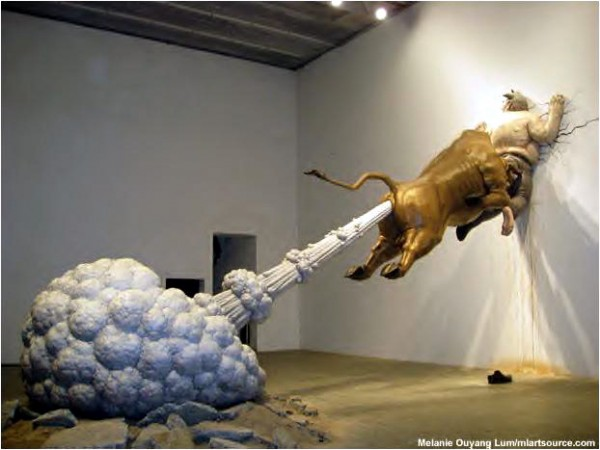 Emergency-exit-by-sculptor-Chen-Wenling