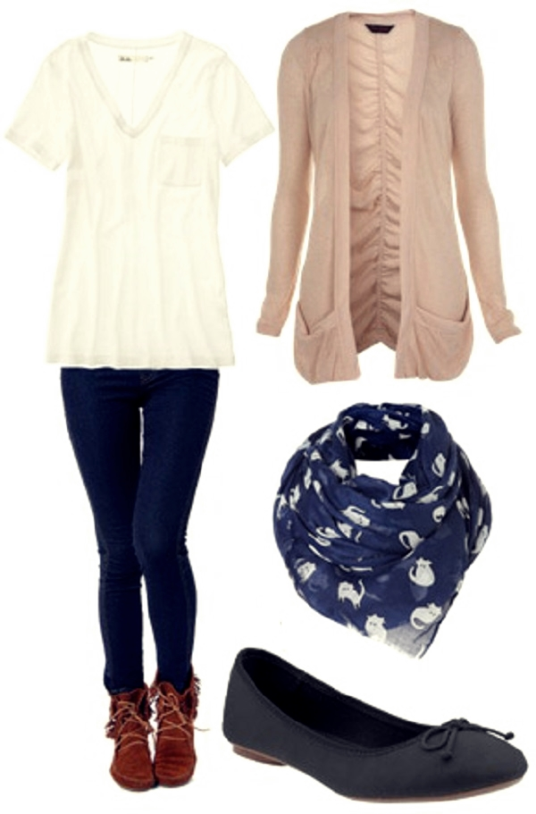 outfit with comfy white tee