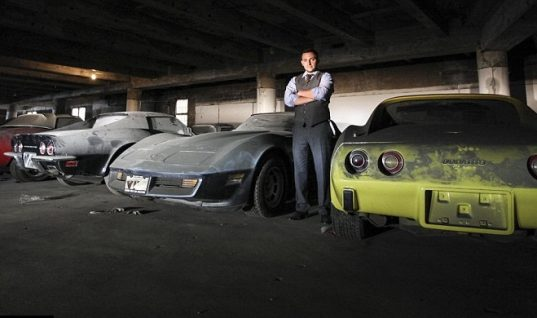 Man Discovers 36 Abandoned Old Corvettes In Underground Parking Lot